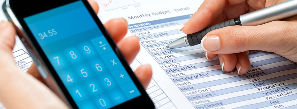 Photo of calculator app on smart phone. (c) Can Stock Photo