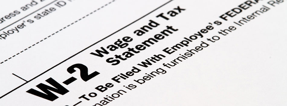 Photo of W2 tax form. (c) Can Stock Photo